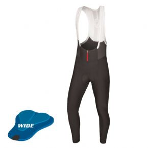 Endura Pro Sl Biblong Tights (wide Pad) - 4-way high stretch Windproof breathable fabric with DWR finish front and seat panels