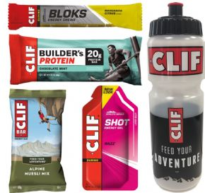 Clif Bar Taster Pack + Free 700ml Water Bottle 2018 -