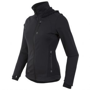 Pearl Izumi Escape Womens Windproof Softshell Zip-up Hoody - Thermal Fleece panels provide warmth, superior moisture transfer and movement